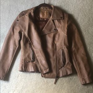 Max Studio brown leather jacket